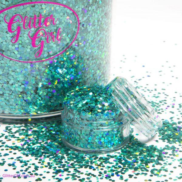 Aqua Lace Glitter