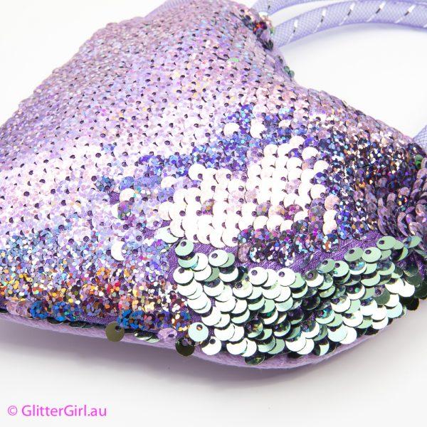 Sequin Bag Purple