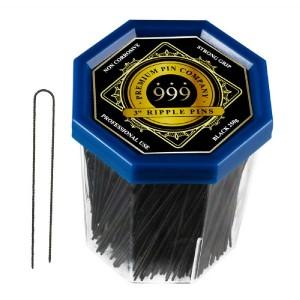 999 3 Ripple Pins Black