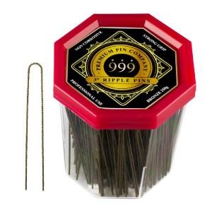 999 Bronze 3 Ripple Pins